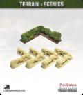 Terrain Scenics (10mm): Hedges (corners)