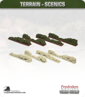 Terrain Scenics (10mm): Hedges (irregular)