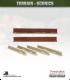 Terrain Scenics (10mm): Low Brick Walls (straight)