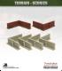 Terrain Scenics (10mm): High Brick Walls (corners)