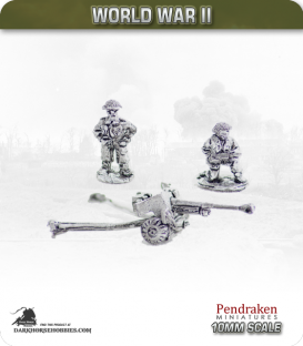 10mm World War II: British - 6pdr AT gun with Crew pack