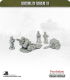 10mm World War II: British - 25pdr Field Gun with Ammo Trailer and Crew