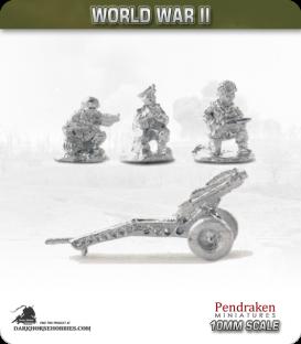 10mm World War II: British - 75mm Howitzer with Airborne Crew pack