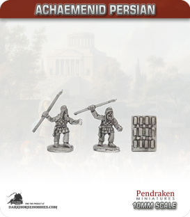 10mm Ancient (Classical): Achaemenid Persian - Sparabara Spearmen with Shields