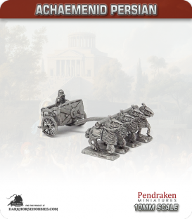10mm Ancient (Classical): Achaemenid Persian - Scythed Chariot with Xerxes