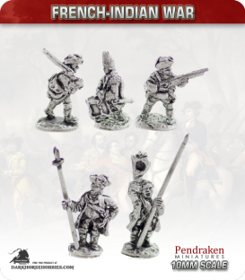 10mm French-Indian War: Line Infantry in Campaign Dress - Braddock reforms