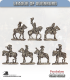 10mm League of Augsburg: Mounted Command in Tricorne - Standing