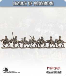 10mm League of Augsburg: French Dragoons in Fur Hats