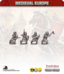 10mm European Medieval: Knights on Foot