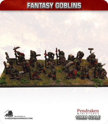 10mm Fantasy Goblins: Assorted Warriors