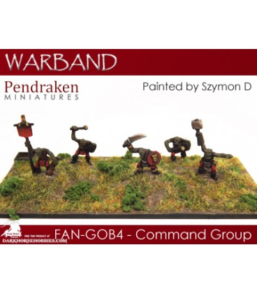 10mm Fantasy Goblins: Command Group