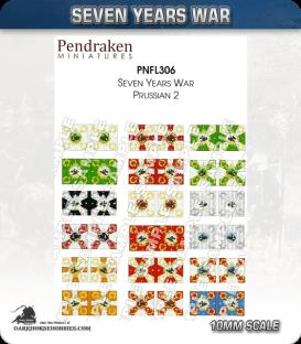 10mm Marlburian/Seven Years War Flags: Prussian 2 - IR10-18