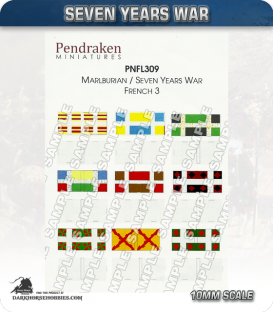 10mm Marlburian/Seven Years War Flags: French (type 3)