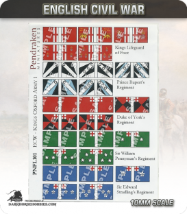 10mm English Civil War (Flags): King's Oxford Army 1