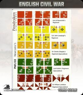 10mm English Civil War (Flags): Newcastle's