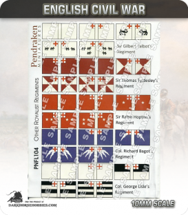 10mm English Civil War (Flags): Other Royalist Regiments