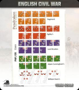 10mm English Civil War (Flags): Essex