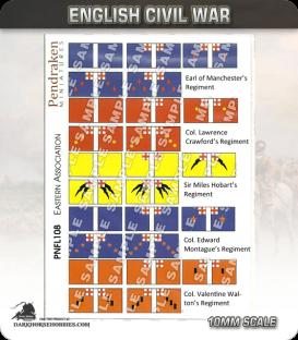 10mm English Civil War (Flags): Eastern Association