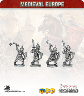 10mm Eastern European Medieval: Knights on Foot