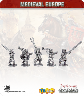 10mm Eastern European Medieval: Armed Peasants