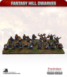 10mm Fantasy Hill Dwarves: Warriors