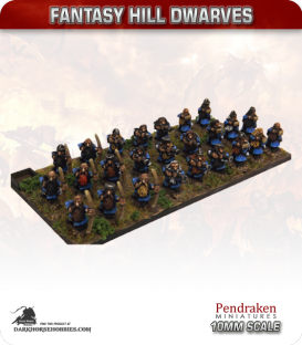 10mm Fantasy Hill Dwarves: Archers