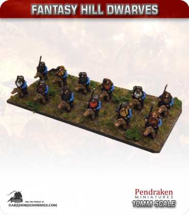 10mm Fantasy Hill Dwarves: Noble Riders