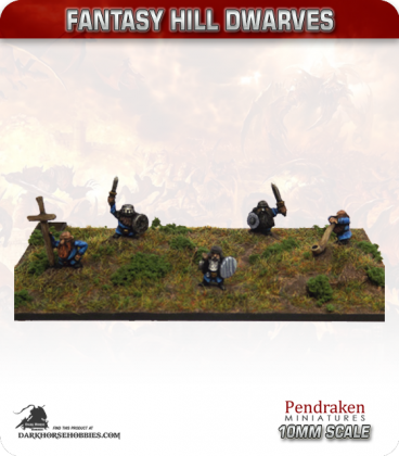 10mm Fantasy Hill Dwarves: Command Group