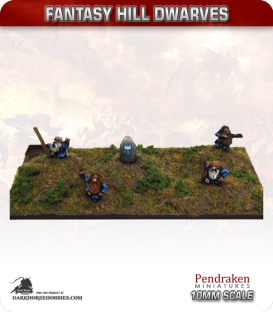 10mm Fantasy Hill Dwarves: Wizards with Runestone