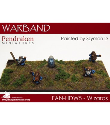 10mm Fantasy Hill Dwarves: Wizards with Runestone