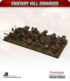 10mm Fantasy Hill Dwarves: Berserkers