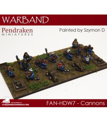 10mm Fantasy Hill Dwarves: Cannons with Crew