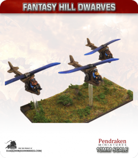 10mm Fantasy Hill Dwarves: Gyrocopters