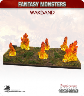 10mm Fantasy Monsters: Fire Elementals