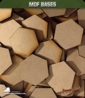 Pendraken: 15mm Hex MDF Lasercut Wood Bases