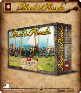 Blood & Plunder: European - Colonial Militia Nationality Set