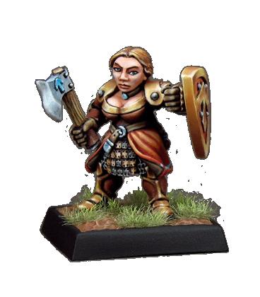 Warlord: Dwarves - Shield Maidens, Dwarf Adept (9-pack)