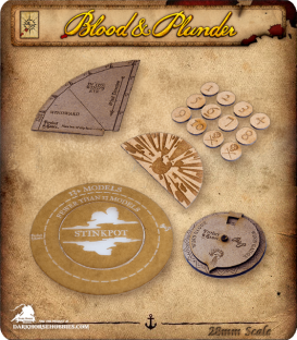 Blood & Plunder: Deluxe Template Set
