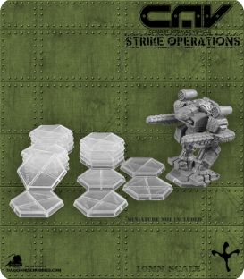 72312 Clear Hex Gaming Bases (C.A.V. Strike Operations) Gaming Products