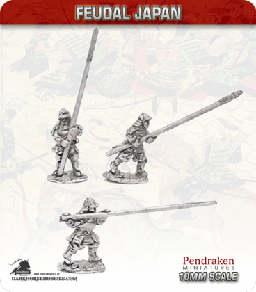 10mm Feudal Japan: Samurai with Yari