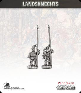 10mm Landsknechts: Pikemen