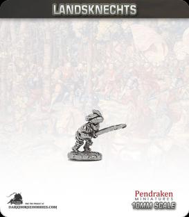 10mm Landsknechts: Two-Handed Swordsmen