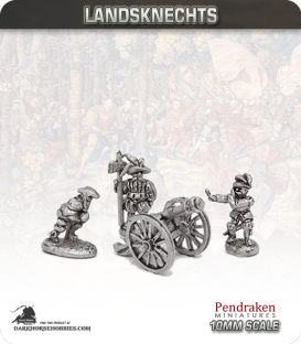 10mm Landsknechts: Medium Guns and Crew