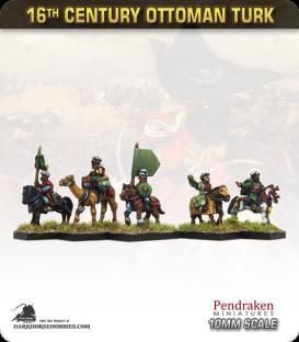 10mm 16th C. Ottoman Turk: Mounted Command
