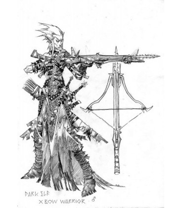 Warlord: Darkreach - Dark Elf Crossbowman (concept art)