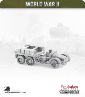 10mm World War II: German - Protz Truck (artillery tractor)