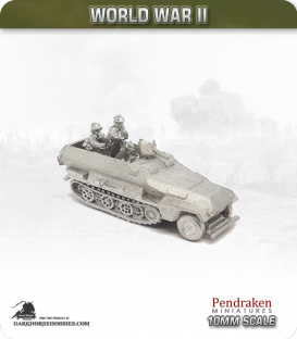 10mm World War II: German - Sd.Kfz 251/2 (Ausf B) 8cm Mortar Carrier and Crew