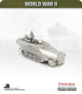 10mm World War II: German - Sd.Kfz 251/2 (Ausf D) 8cm Mortar Carrier and Crew