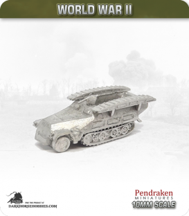 10mm World War II: German - Sd.Kfz 251/7 (Ausf D) Engineer Vehicle