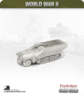 10mm World War II: German - Sd.Kfz 251/9 (Ausf D) - Short 75mm